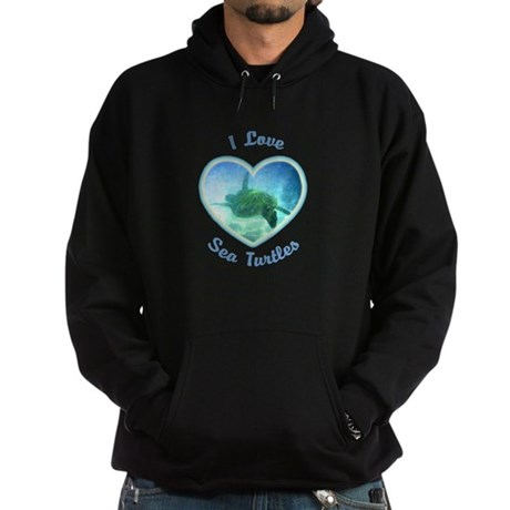 I Love Sea Turtles Hoodie (dark)