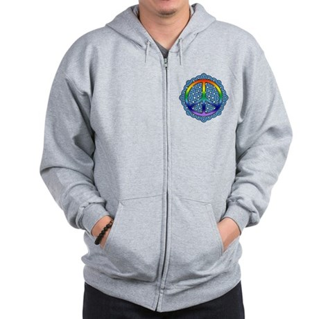 Celtic Knot Peace Symbol Zip Hoodie