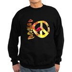 Flowery Orange Peace Sweatshirt (dark)