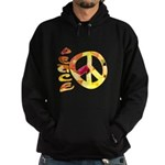 Flowery Orange Peace Hoodie (dark)