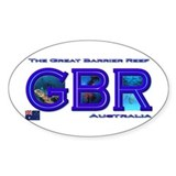 Dive The Great Barrier Reef Oval Decal