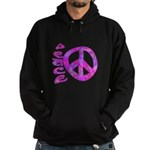 Pink Peace Hoodie (dark)