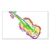 VIOLINS Rectangle Decal