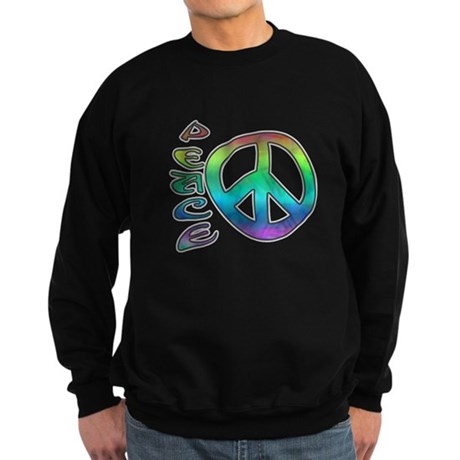 Rainbow Peace Sweatshirt (dark)