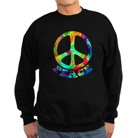 Rainbow Pool Peace Symbol Sweatshirt (dark)