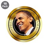 "Obama Gold Seal 3.5"" Button (10 pack)"