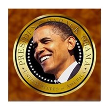 Obama Gold Seal Tile Coaster