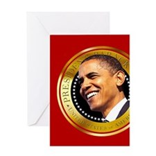 Obama Gold Seal Greeting Card