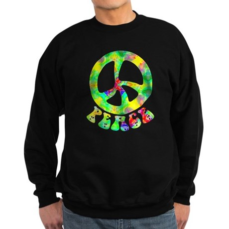 Flower Child Peace Sweatshirt (dark)
