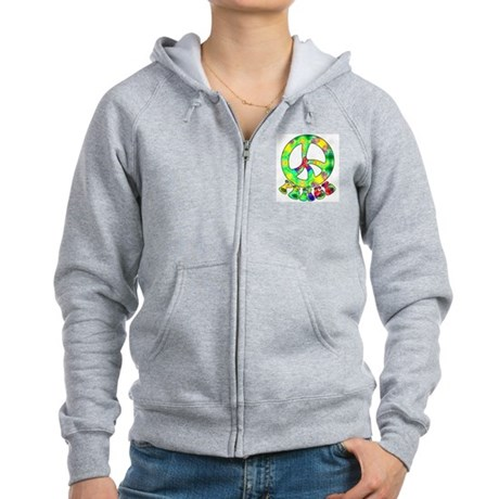 Flower Child Peace Women's Zip Hoodie