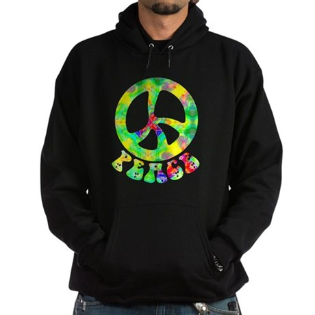 Flower Child Peace Hoodie (dark)