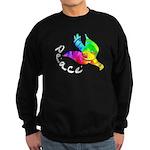 Rainbow Dove Peace Sweatshirt (dark)