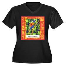 El Cotorro 2 Women's Plus Size V-Neck Dark T-Shirt