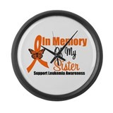 Leukemia Memory Sister Large Wall Clock