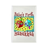Baby's First Hanukkah Rectangle Magnet (10 pack)