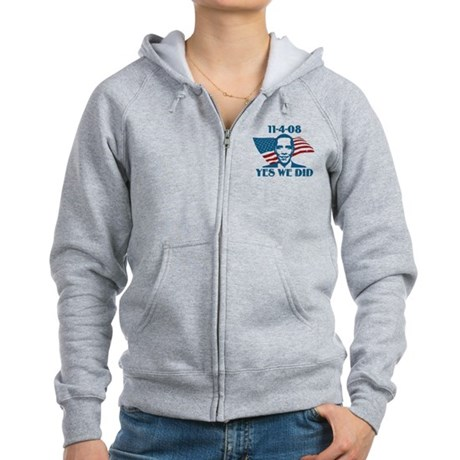 Yes We Did 11-4-2008 Women's Zip Hoodie