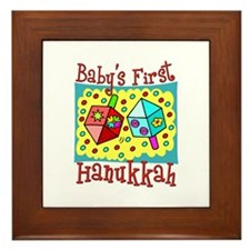 Baby's First Hanukkah Framed Tile