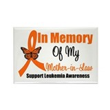 Leukemia In Memory MIL Rectangle Magnet (10 pack)