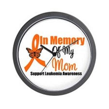 Leukemia In Memory Mom Wall Clock
