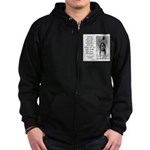Sitting Bull Quote Zip Hoodie (dark)
