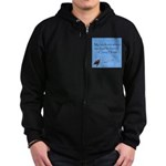 Crazy Horse Quote Zip Hoodie (dark)