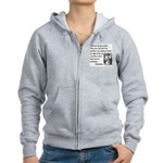 Geronimo Quote Women's Zip Hoodie