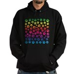 Rainbow Cat Tracks Hoodie (dark)