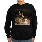 Two Turkeys on a Log Sweatshirt (dark)