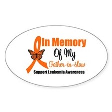 Leukemia In Memory FIL Oval Decal