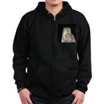 Great Horned Owl Zip Hoodie (dark)
