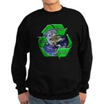 Reduce Reuse Recycle Earth Sweatshirt (dark)