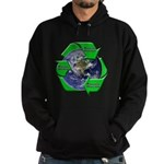 Reduce Reuse Recycle Earth Hoodie (dark)