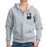 Eel River from the cliff Women's Zip Hoodie