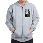 Eel River from the cliff Zip Hoodie
