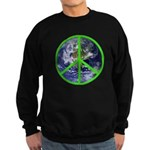 Earth Peace Symbol Sweatshirt (dark)