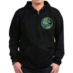 Earth Peace Symbol Zip Hoodie (dark)