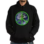 Earth Peace Symbol Hoodie (dark)