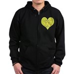 Hug your Kids Heart Zip Hoodie (dark)