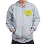 Hug your Kids Heart Zip Hoodie