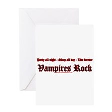 Vampires Rock Greeting Card