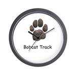 Real Bobcat Track Wall Clock