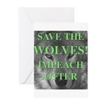 Help Idaho Wolves Greeting Cards (Pk of 20)