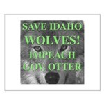 Save Idaho Wolves Small Poster