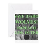 Save Idaho Wolves Greeting Card