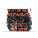 Stop the wolf massacre Postcards (Package of 8)