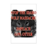 Stop the wolf massacre Mini Poster Print