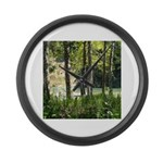 Eel River at Ravencliff Large Wall Clock