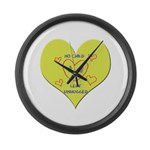 Hug your Kids Heart Large Wall Clock