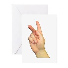 ASL Letter K Greeting Cards (Pk of 10)