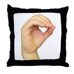 ASL Letter O Throw Pillow